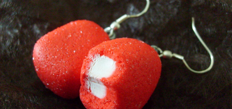Celebre bonbon en pate polymere fraise en p te fimo - Bonbon en pate fimo ...
