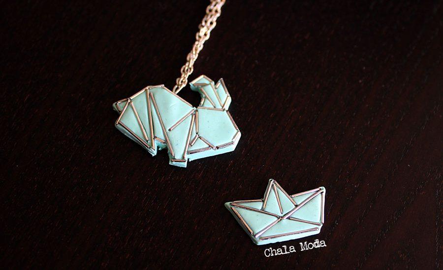 bijoux origami en fimo