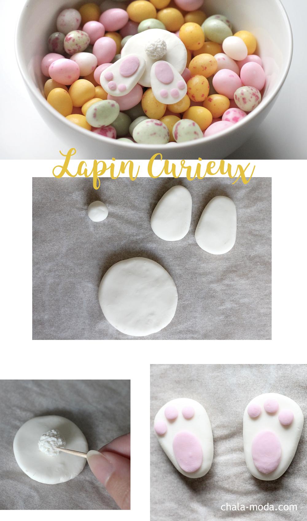 DIY Pâques modeler un lapin curieux en wepam